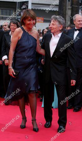 61st Cannes Film Festival - Arrivals For the Palm D'or Award Ceremony Christine Albanel and Roman Polanski