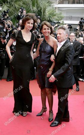 61st Cannes Film Festival - Arrivals For the Palm D'or Award Ceremony Christine Albanel Roman Polanski and Valerie Lemercier