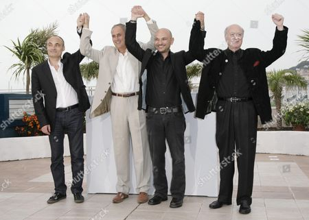61st Cannes Film Festival - Photocall For 'C'est Dur D'etre Aime Par Des Cons' (it's Hard Be Liked by Idiots) Philippe Val Daniel Leconte Richard Malka and Georges Wolinski