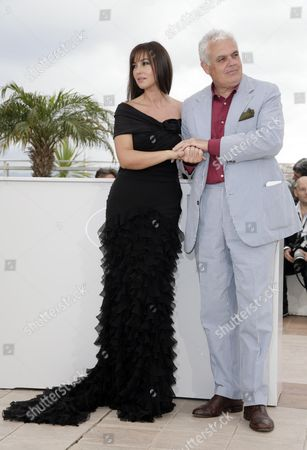 61st Cannes Film Festival - Photocall For 'Une Histoire Italienne' Monica Bellucci and Marco Tullio Giordana