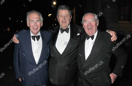 70th Birthday Celebration at Wheelers of St James St James Street Mayfair Thomas Alexander Fermor-hesketh 3rd Baron Hesketh Lord Charles Spencer-churchill and Samuel George Armstrong Vestey 3rd Baron Vestey