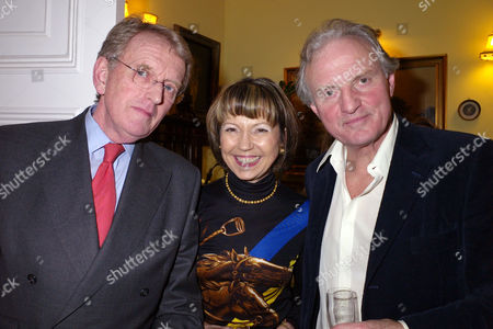 A Party Given by Basia and Richard Briggs For the Joint Birthdays of Lady Catherine Meyer & Matthew Steeples at Their Home in Chelsea London Sir Christopher Meyer & Lady Catherine Meyer with Charles Anson