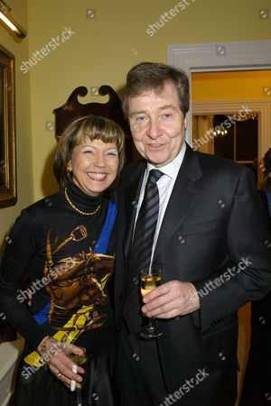 A Party Given by Basia and Richard Briggs For the Joint Birthdays of Lady Catherine Meyer & Matthew Steeples at Their Home in Chelsea London Lady Catherine Meyer & Hugh Williams