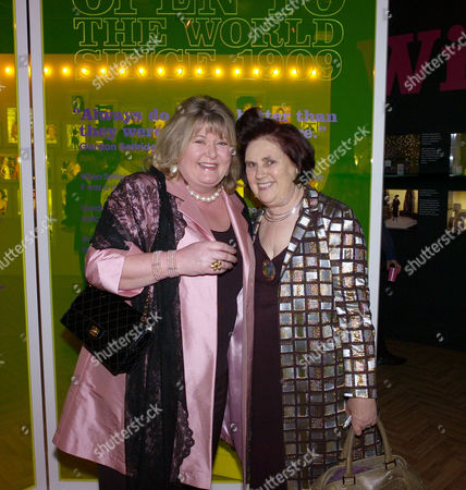 Private View of an Exhibition and A Party to Celebrate 100 Years of Selfridges at the Store in Oxford Street London Lindy Woodhead & Suzy Menkes