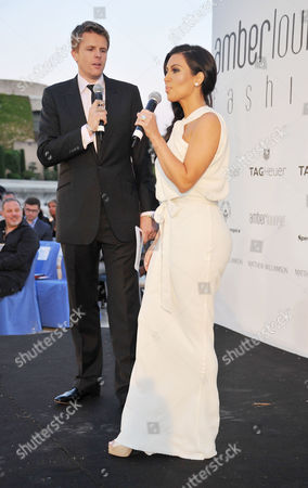 Amber Lounge Fashion Show and Auction at Le Meridien Beach Plaza Monaco Kim Kardashian and Jake Humphries