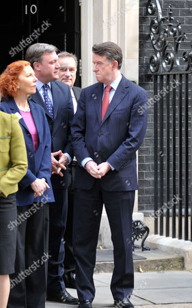 Announcement of the Date of the General Election in Downing Street Baroness Royall Ed Balls Mp Nick Brown Mp and Lord Peter Mandelson
