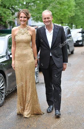 Ark 2012 Dinner at Kensington Gardens Saffron Aldridge with Her Husband Ark Founder Ian Wace
