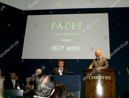Auction of Contemporary Art in Aid of Facet (for Africa's Children Every Time) at Christie's Auction Rooms Mayfair Laurence Graff