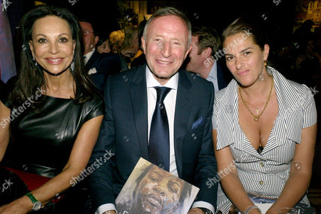 Auction of Contemporary Art in Aid of Facet (for Africa's Children Every Time) at Christie's Auction Rooms Mayfair Laurence Graff with His Wife Anne Marie and Tracey Emin