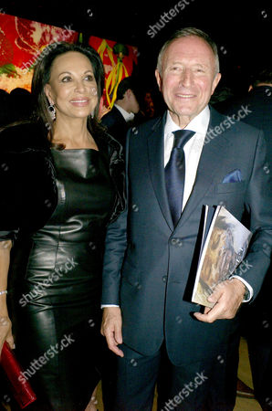 Auction of Contemporary Art in Aid of Facet (for Africa's Children Every Time) at Christie's Auction Rooms Mayfair Laurence Graff with His Wife Anne Marie