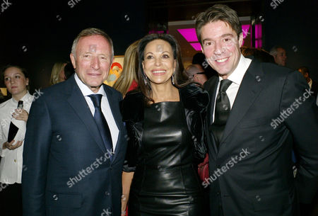 Auction of Contemporary Art in Aid of Facet (for Africa's Children Every Time) at Christie's Auction Rooms Mayfair Laurence Graff with His Wife Anne Marie and Son Francois Graff