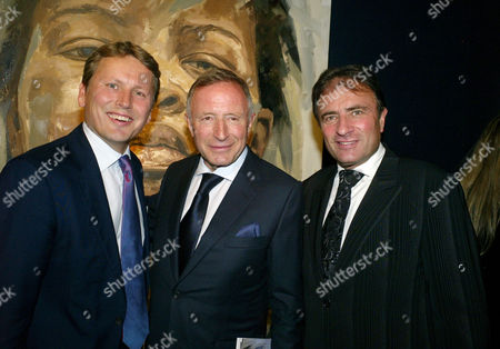 Auction of Contemporary Art in Aid of Facet (for Africa's Children Every Time) at Christie's Auction Rooms Mayfair Jussi Pylkkanen with Laurence Graff and His Brother Raymond Graff