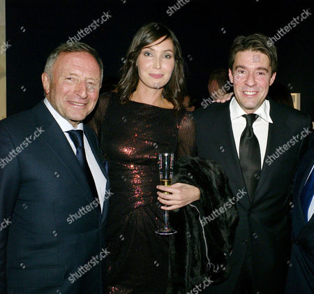 Auction of Contemporary Art in Aid of Facet (for Africa's Children Every Time) at Christie's Auction Rooms Mayfair Laurence Graff with His Son Francois Graff and His Wife Klara Oberg