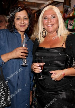 Book Launch Party For 'Things Your Mother Never Told You' at Daunt Books Marylebone Meera Syal and Vanessa Feltz