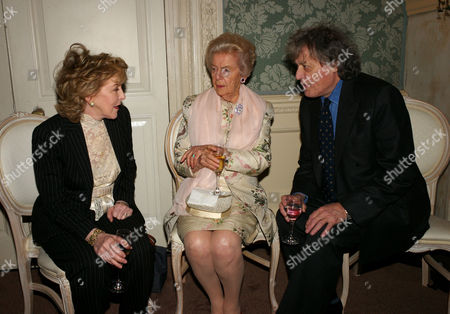 Book Party to Celebrate the Reprint of the Novel 'Wigs On the Green' at Claridges Hotel Mayfair Patricia Hodge Debo Deborah Cavendish Duchess of Devonshire and Sir Tom Stoppard