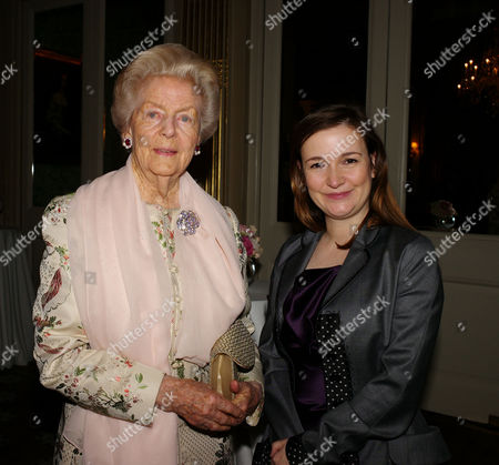 Book Party to Celebrate the Reprint of the Novel 'Wigs On the Green' at Claridges Hotel Mayfair Debo Deborah Cavendish Duchess of Devonshire and Catherine Ostler Editor of Tatler Who Hosted the Event