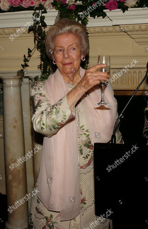 Book Party to Celebrate the Reprint of the Novel 'Wigs On the Green' at Claridges Hotel Mayfair Debo Deborah Cavendish Duchess of Devonshire