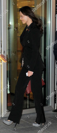 Boris Berezovsky's Girlfriend Yelena Gorbunova Leaves After Appearing at the High Court at the Rolls Building Holborn