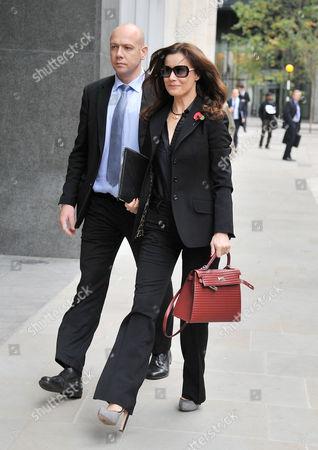 Boris Berezovsky's Girlfriend Yelena Gorbunova Arrives at the High Court at the Rolls Building Holborn