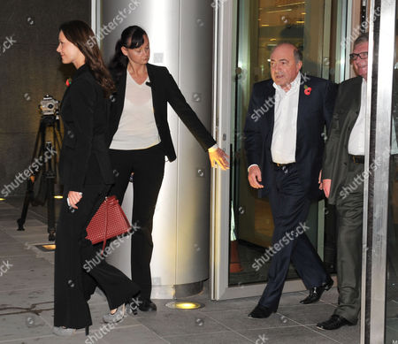 Boris Berezovsky with His Girlfriend Yelena Gorbunova Leave After Appearing at the High Court at the Rolls Building Holborn
