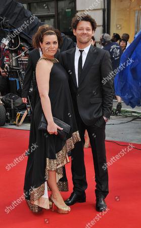 Stock Image of British Academy Television Awards Arrivals at the London Palladium Argyll Street Richard Coyle with His Wife Georgia Mackenzie