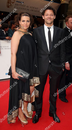 Stock Picture of British Academy Television Awards Arrivals at the London Palladium Argyll Street Richard Coyle with His Wife Georgia Mackenzie