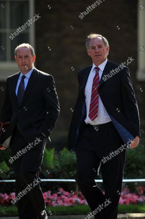 Tuesday Morning Cabinet Meeting at Number 10 Downing Street Geoff Hoon Mp Transport & John Hutton Mp Defence Arrive at Number 10 Downing Street