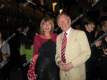 Carole Stone with Her Husband at Her Christmas Party at Middle Temple Hall Middle Temple