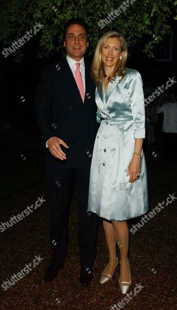 Cartier Hold A Private Dinner in the Chelsea Physic Garden to Mark the Start of the Chelsea Flower Show London Catrina Skepper with Her Husband Alessandro Guerrini-maraldi