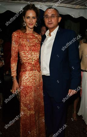 Cartier Hold A Private Dinner in the Chelsea Physic Garden to Mark the Start of the Chelsea Flower Show London Trinny Woodall and Johnny Elichaoff
