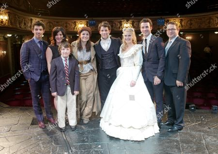 Cast Change First Night of 'Les Miserables' at the Queen's Theatre Shaftesbury Avenue Backstage After the Performance Samantha Barks (eponine) Camilla Kerslake (cosette) and Nick Jonas (marius) with His Brothers Joe Jonas and Kevin Jonas and Their Parents Denise and Paul Kevin Sr Jonas and Younger Brother Frankie Jonas