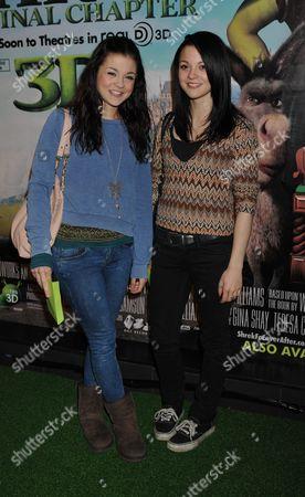 Celebrity Gala Screening For 'Shrek 3 - Forever After' at the Vue Cinema Leicester Square London Kathryn Prescott and Megan Prescott