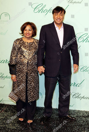 Chopard 150th Anniversary Party Arrivals at Vip Room Palm Beach During the 63rd Cannes Film Festival Lakshmi Mittal with His Wife Usha Mittal