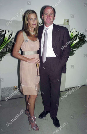Stock Image of Crabtree & Evelyn's Launch Party For India Hicks New Range 'Island Living' at the Hempel Hotel Bayswater India Hicks with Her Partner David Flint Wood