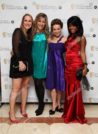 Ea British Academy Children's Awards at the Hilton Park Lane Milkshake Presenters - Beth Evans Naomi Wilkinson Jen Pringle Kemi Majeks