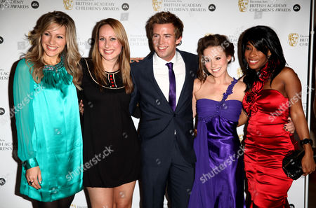 Ea British Academy Children's Awards at the Hilton Park Lane Milkshake Presenters - Beth Evans Naomi Wilkinson Derek Morgan Jen Pringle Kemi Majeks