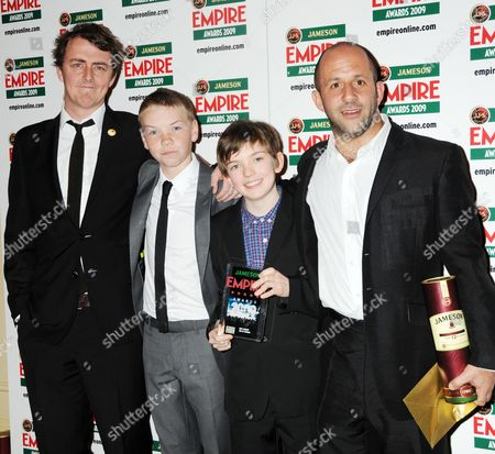 Empire Film Awards Press Room at the Grosvenor House Hotel 'Son of Rambow' Wins Best Comedy - Gareth Jennings Will Poulter Ben Milner and Producer Nick Goldsmith