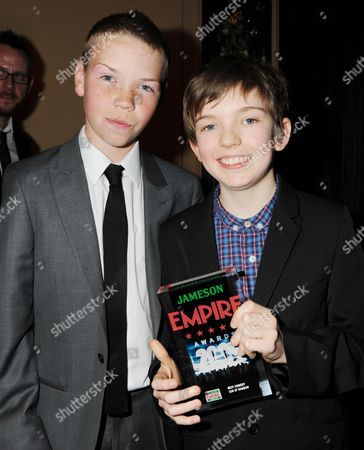 Empire Film Awards Press Room at the Grosvenor House Hotel Best Comedy Film - 'Son of Rambow ' - Ben Milner and Will Poulter