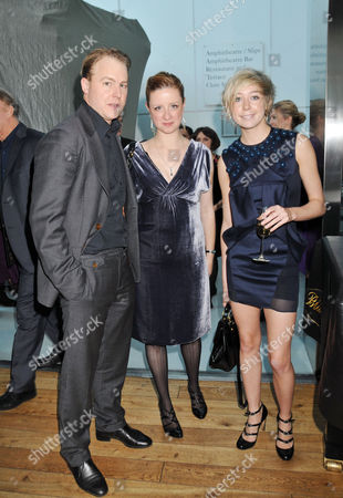 Evening Standard 2009 Theatre Awards at the Royal Opera House Covent Garden Sam West and Laura Wade with Polly Stenham