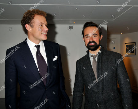 Evening Standard 2009 Theatre Awards at the Royal Opera House Covent Garden Lord Jonathan Rothermere and Evgeny Lebedev