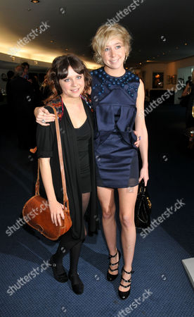 Evening Standard 2009 Theatre Awards at the Royal Opera House Covent Garden Bel Powley and Polly Stenham