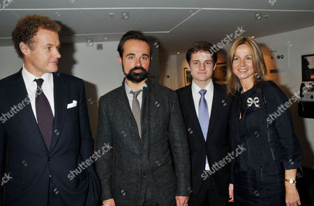 Evening Standard 2009 Theatre Awards at the Royal Opera House Covent Garden Lord Jonathan and Lady Claudia Rothermere with Their Son and Evgeny Lebedev