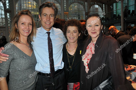 Evening Standard 2009 Theatre Awards at the Royal Opera House Covent Garden Sabrina Guinness Ben Bradshaw Suzanne Bertish and Francis Barber