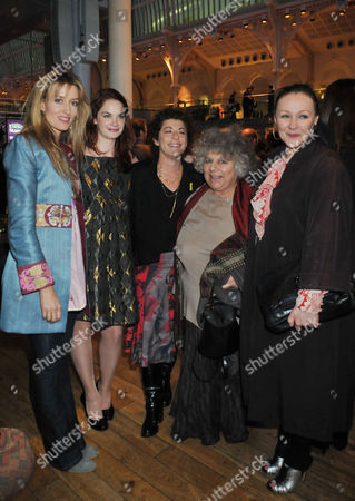 Evening Standard 2009 Theatre Awards at the Royal Opera House Covent Garden Natascha Mcelhone Ruth Wilson Suzanne Bertish Miriam Margolyes and Francis Barber