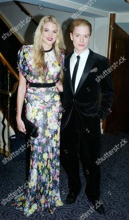 Evening Standard Drama Awards at the Savoy Hotel Gabriella Calthorpe and Freddie Fox