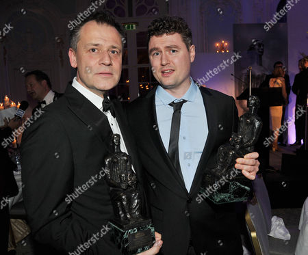 Stock Picture of Evening Standard Drama Awards at the Savoy Hotel Michael Grandage (editors Award) and Adam Cork (best Design)