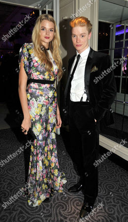 Stock Picture of Evening Standard Drama Awards at the Savoy Hotel Gabriella Calthorpe and Freddie Fox