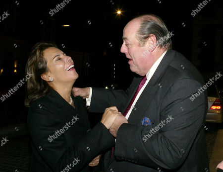 First Annual Churchill Centre Dinner at the Marriot Hotel Grosvenor Square Lily Mahtani the Duchess of Marlborough with Nicholas Soames