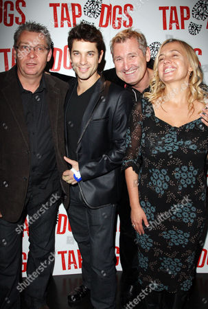 First Night Afterparty For 'Tap Dogs' at Sway Great Queen Street Dein Perry (choreographer) Adam Garcia and Producers Garry Mcquinn and Liz Koops
