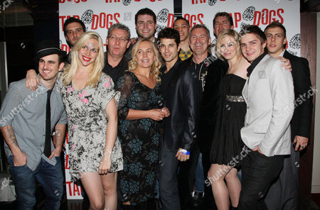 First Night Afterparty For 'Tap Dogs' at Sway Great Queen Street Jesse Rasmussen Matt Papa Adam Garcia Donovan Helma Richie Miller and Douglas Mills Choreographer Dein Perry Producers Garry Mcquinn and Liz Koops with Musicians Lyndsay Evans and Genevieve Wilkins
